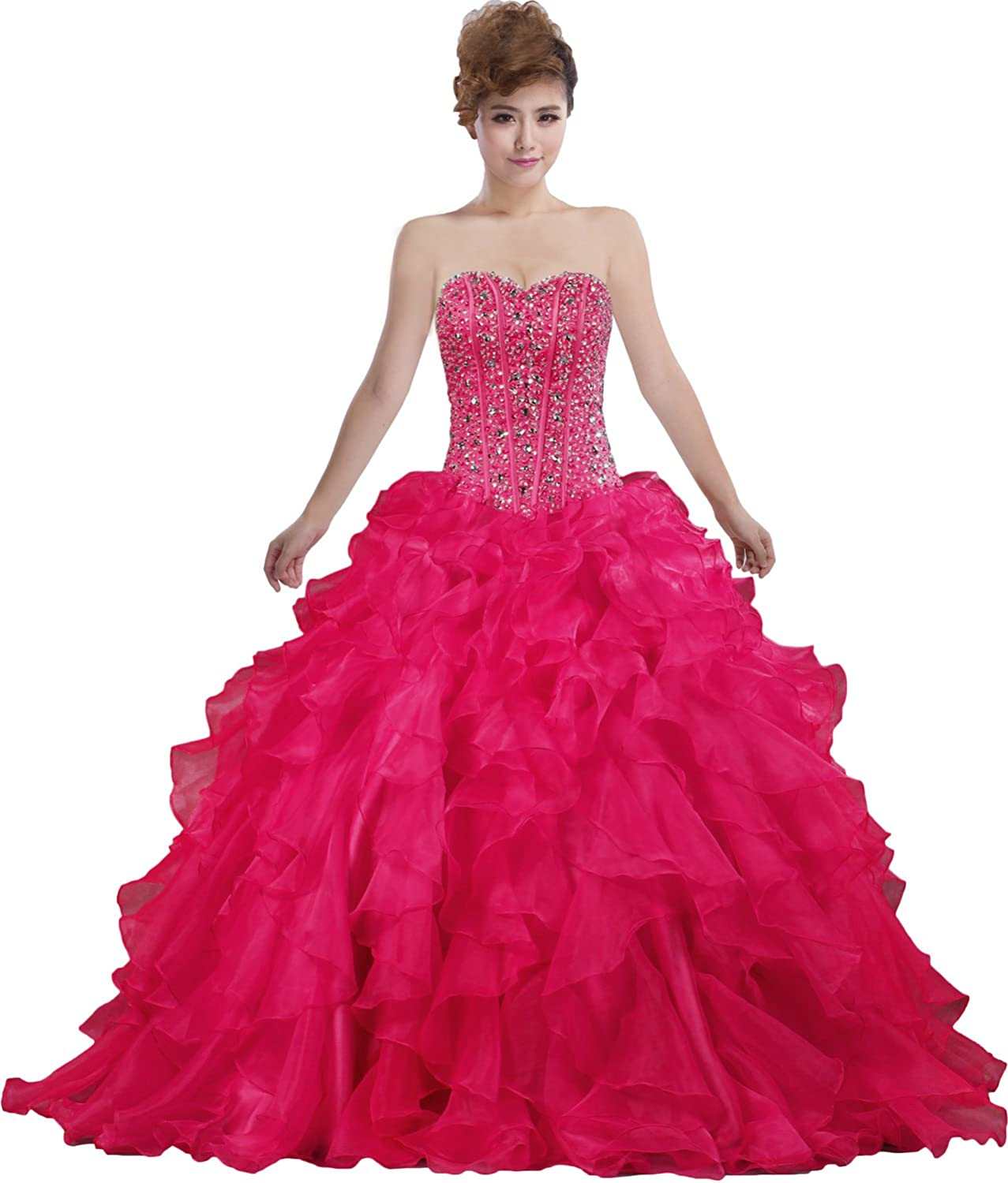 ANTS Women's Sweetheart Ball Gown Prom Dresses Formal Evening Gowns