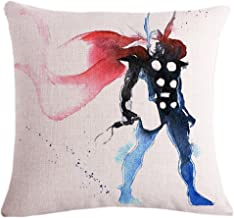 Fyon Superhero Cushion Covers Decorative Throw Pillow Cases for Sofa,Home,car 18x18inch 04A