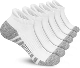 Felicigeely Athletic Running Ankle Socks Low Cut Sports Tab Socks Men Women Breathable Cushioned Arch Support Socks 6 Pair