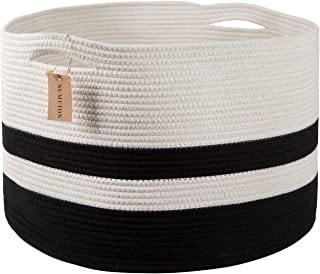 Best black and white woven basket Reviews