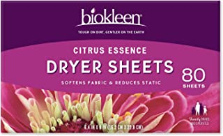 Sponsored Ad - Biokleen Laundry Dryer Sheets, Fabric Softener, Eco-Friendly, Non-Toxic, Plant-Based, No Artificial Fragran...