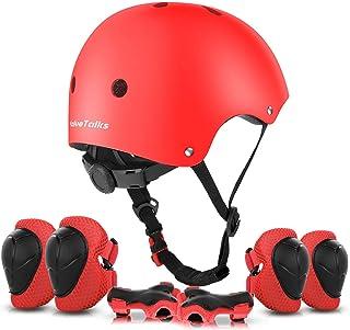 comprar comparacion ValueTalks Protección Patinaje, Protección Infantil Consta de Casco Ajustable Rodilleras Coderas, Patinaje Ciclismo Monopa...