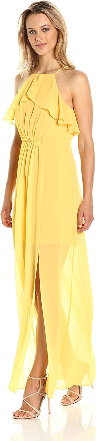 BCBGeneration Women's Cascade Ruffle Dress