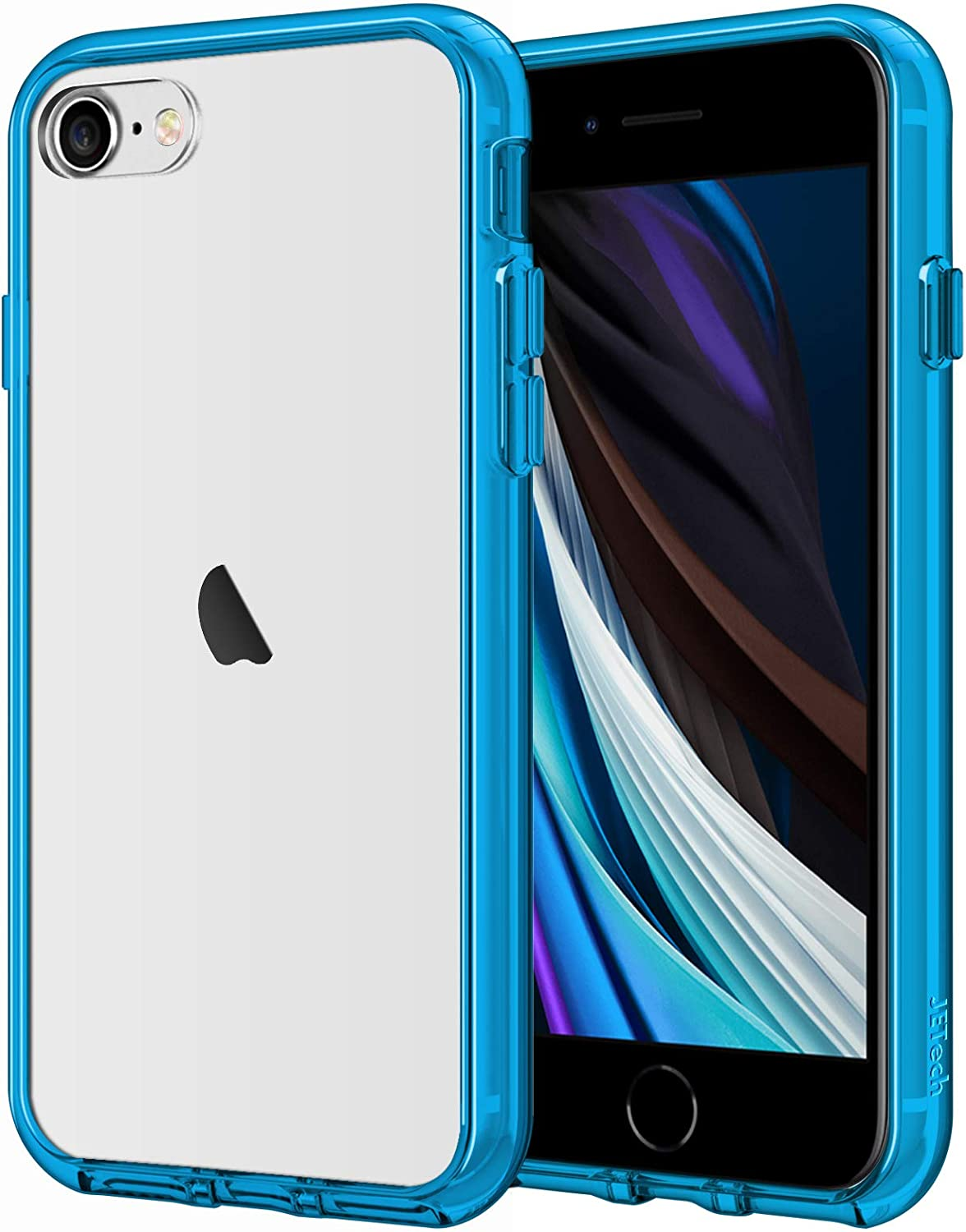 JETech Case Compatible with iPhone 8, iPhone 7, iPhone SE 2020, 4.7-Inch, Shockproof Bumper Cover, Anti-Scratch Clear Back, Blue