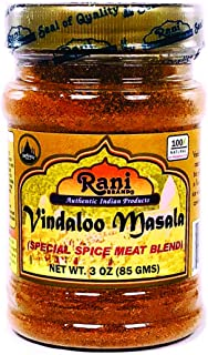 Rani Vindaloo Curry Masala Natural Indian Spice Blend 3oz (85g) ~ Salt Free | Vegan | Gluten Free Ingredients | NON-GMO | No colors