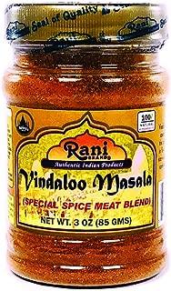 Rani Vindaloo Curry Masala Natural Indian Spice Blend 3oz (85g) ~ Salt Free   Vegan   Gluten Free Ingredients   NON-GMO   No colors