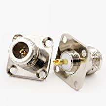 1 x New N Female Jack with 4 Holes Chassis Panel Solder RF Connector high quality quick ship from US