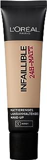 L'Oréal Paris Infaillible 24H–matta i nr 30 Honey, långvarig flytande smink med hög täckkraft, 35 ml
