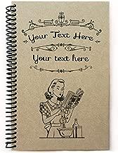 Custom recipe book, personalized gift, personalized cookbook, 5.5x8.5