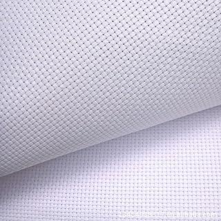 "Labellevie Cross Stitch Fabric Aida Cloth Standard Aida 11 Count 39""X59"", White"