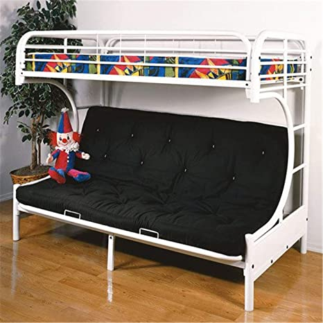 Amazon Com Acme Furniture 02091w W Eclipse Futon Bunk Bed Twin Full White Furniture Decor