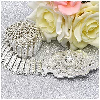 Decorative Belt Morocco Gilding Caftan Belt For Women Ethnic Wedding Jewelry Silver Color Bridal Rhinestone Waist Chains
