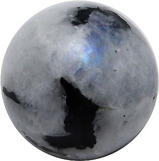 HARMONIZE Arc-en-Moonstone Mini Sphère Boule d'équilibrage Reiki Art Healing Pierre Table Décor