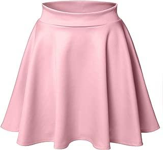 Women's Basic Versatile Stretchy Flared Skater Skirt (LFWSK0009)