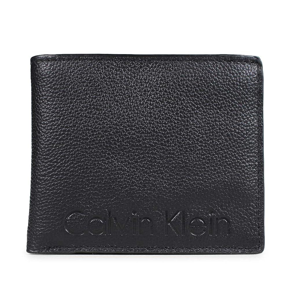 間気づくなる終わらせるカルバンクライン Calvin Klein PEBBLE LEATHER MODERN LOGO 財布 二つ折り レザー ブラック 79475 メンズ (並行輸入品)