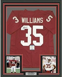 Autographed Aeneas Williams Jersey - FRAMED 33x42 Arizona Red Beckett COA - Beckett Authentication - Autographed NFL Jerseys