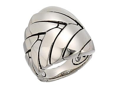 John Hardy Modern Chain Large Ring (Silver) Ring