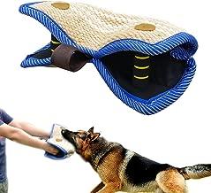 PET ARTIST Jute/Linen Bite Wedge Bite Pillow 2 Handle with 1 Loop Tug Toy 14
