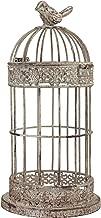 Stonebriar Decorative Small Aged Metal Wire Bird Cage