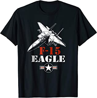 F-15 Eagle fighter jet silhouette pilot or crew t-shirt
