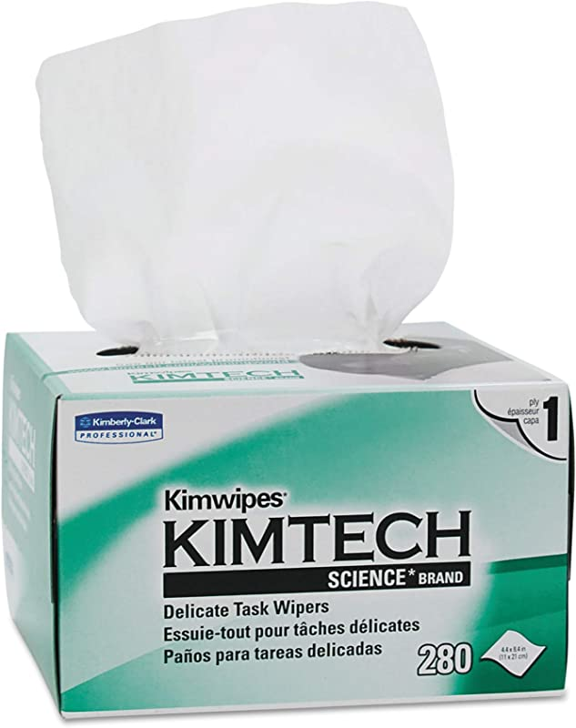 Kimtech 34155CT Kimwipes Delicate Task Wipers 1 Ply 4 2 5 X 8 2 5 280 Per Box Case Of 60 Boxes