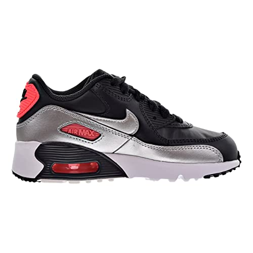 c22212931c0 Nike Air Max 90 Leather Little Kids (PS) Shoes Anthracite Metallic Silver  833377