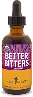 Herb Pharm Better Bitters Certified Organic Digestive Bitters, Classic, 2 Ounce