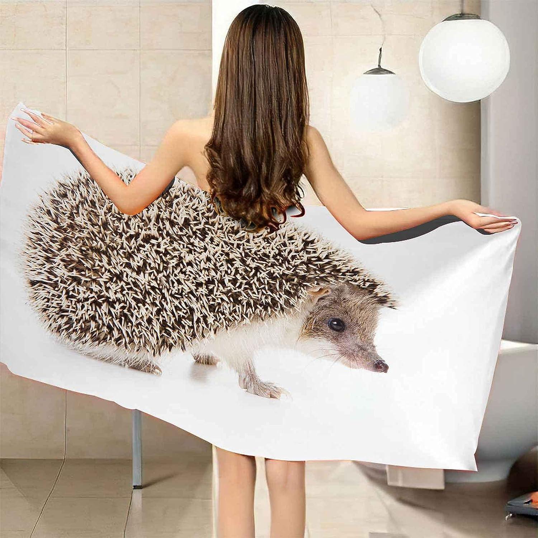 IRUAIF Microfiber Beach Towel A surprise price is realized Wild Little 78.7x7 Hedgehog Max 60% OFF Animal