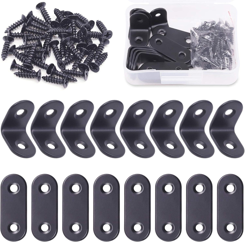 Rustark Max 89% OFF Regular store 56 Pcs Stainless Steel Set Assortment Corner Brace Inclu