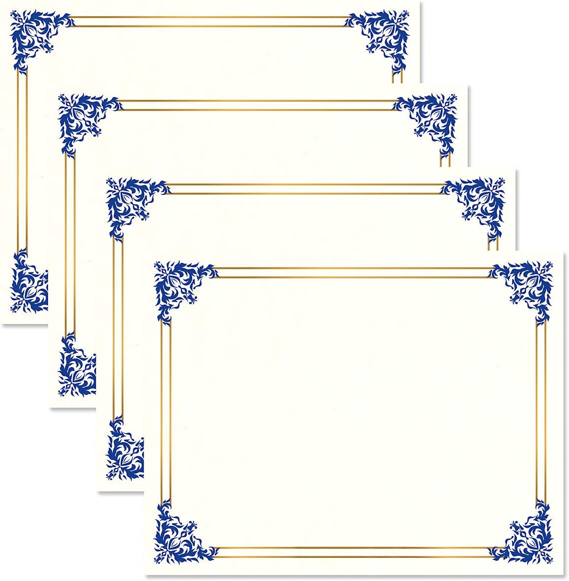 Empire Blue Free shipping on posting San Diego Mall reviews Gold White Parchment - Pack of Certificate Papers