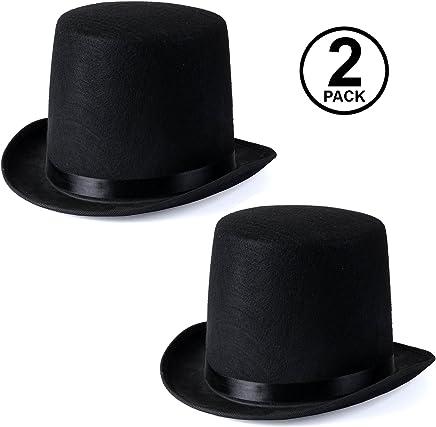 c7a792a95a09f Funny Party Hats Black Felt Top Costume Hat