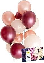 Burgundy Rose Gold Cream Latex Party Balloon Decoration 30 x Tough 12