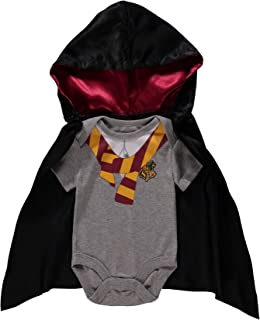 Harry Potter Infant Baby Boys' Onesie Bodysuit with Detachable Hoodie Cape Baby Costume