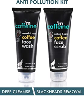 mCaffeine Coffee Anti Pollution Kit | Deep Cleanse, Blackheads Removal | Face Wash (100ml), Face Scrub(100gm) | Oily/Norma...