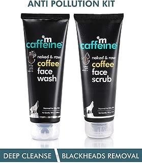 mCaffeine Coffee Anti Pollution Kit | Deep Cleanse, Blackheads Removal | Face Wash (100ml), Face Scrub(100gm) | Oily/Normal Skin | Paraben & SLS Free
