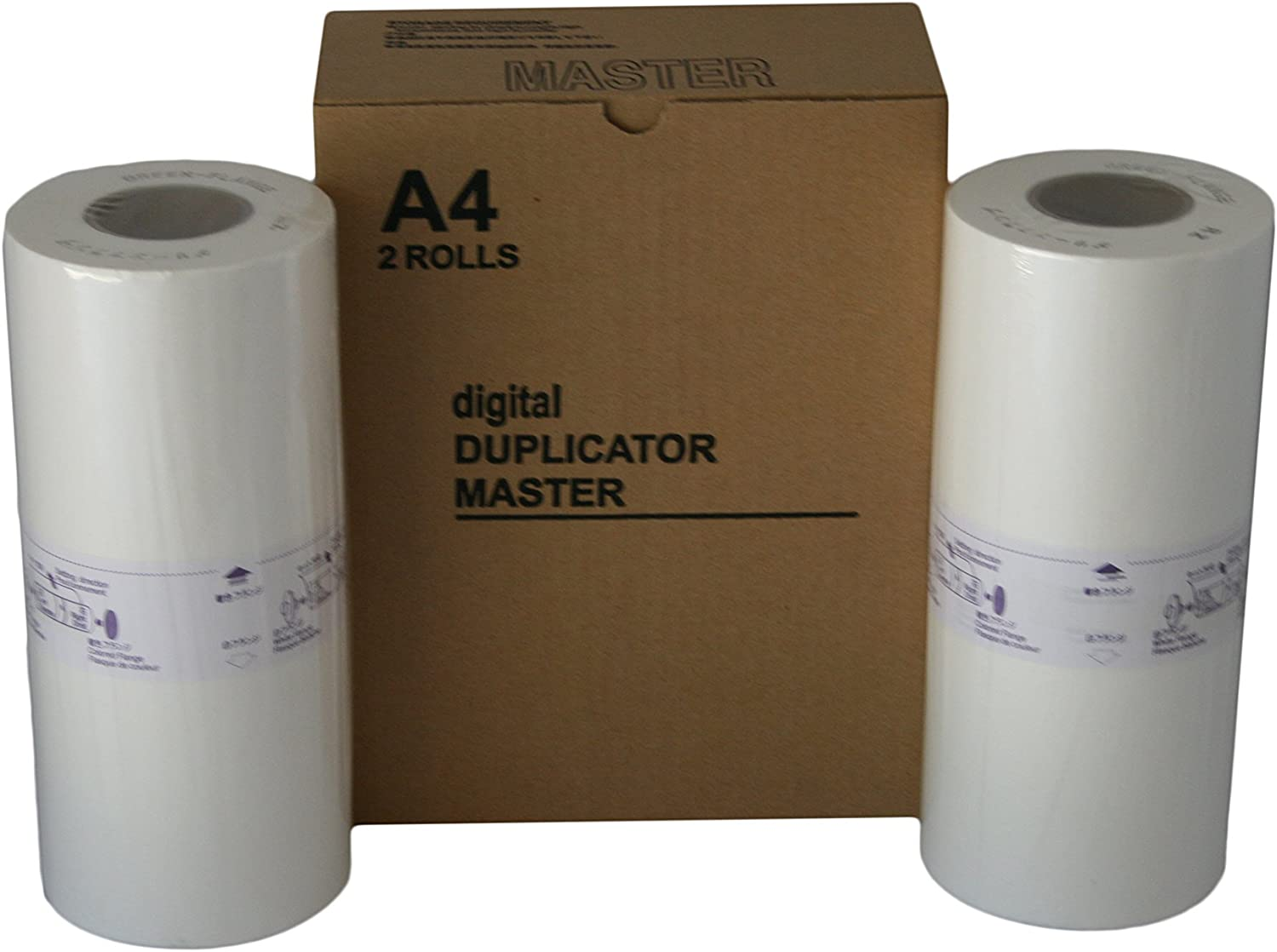 2 Wholesale Widgets S-4250 Master Rolls Compatible with Riso S4250 A4 for Use in Riso EZ220, RZ220, RZ230, and RZ310 Duplicators RISS4250C