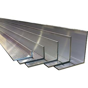 1000/+//-4/mm lunghezza da 60/x 25/x 3/mm Profilo ad angolo in alluminio