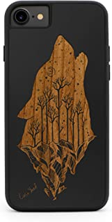 CaseYard iPhone 8/7 Case, Premium Hybrid Case for Apple iPhone 8/7 Made in California (iPhone 8/7 Regular-Protective) (Black) Howling Wolf