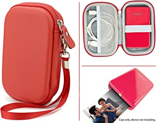 CaseSack Travel Pouch Case with Zipper for Polaroid ZIP Mobile Printer and HP Sprocket, Red