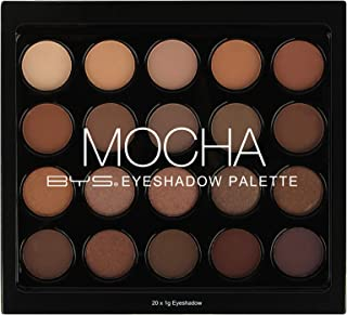 BYS Mocha Eyeshadow Palette - 20 eyeshadow shades, Mica smooth finish on Lids soft easy to blend pigment true to color infinite looks