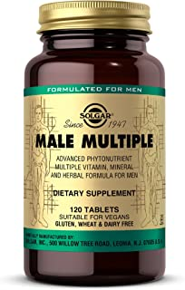 Solgar Male Multiple, 120 Tablets - Multivitamin, Mineral & Herbal Formula for Men - Advanced Phytonutrient - Vegan, Glute...