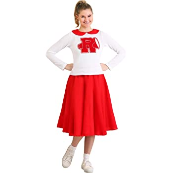 Womens Grease Rydell High Cheerleader Fancy Dress Costume X-Small ...