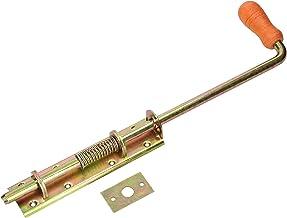 KOTARBAU® Veergrendel 380/13 mm breed geel voor poorten garages poorten met houten handvat