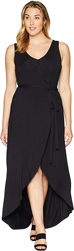 Plus Size Eve Sleeveless Wrap Dress