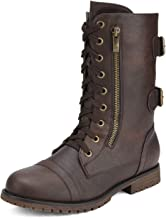 DREAM PAIRS Women's Winter Faux Fur Lining Combat Boot