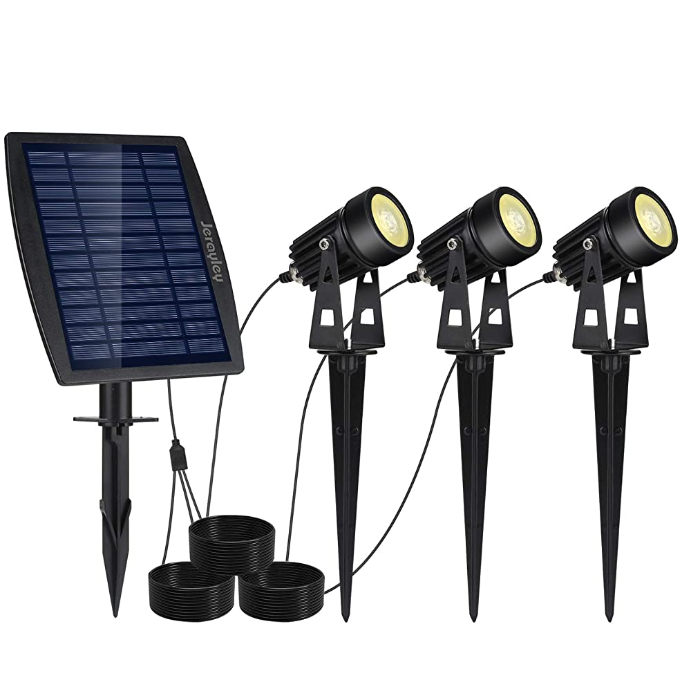 影響ファイター雹Reuyer ソーラーライト 屋外 スポットライト LEDガーデンライト IP65防水 暖色系 玄関 庭 駐車場 芝生 防犯対策 自動点灯/消灯
