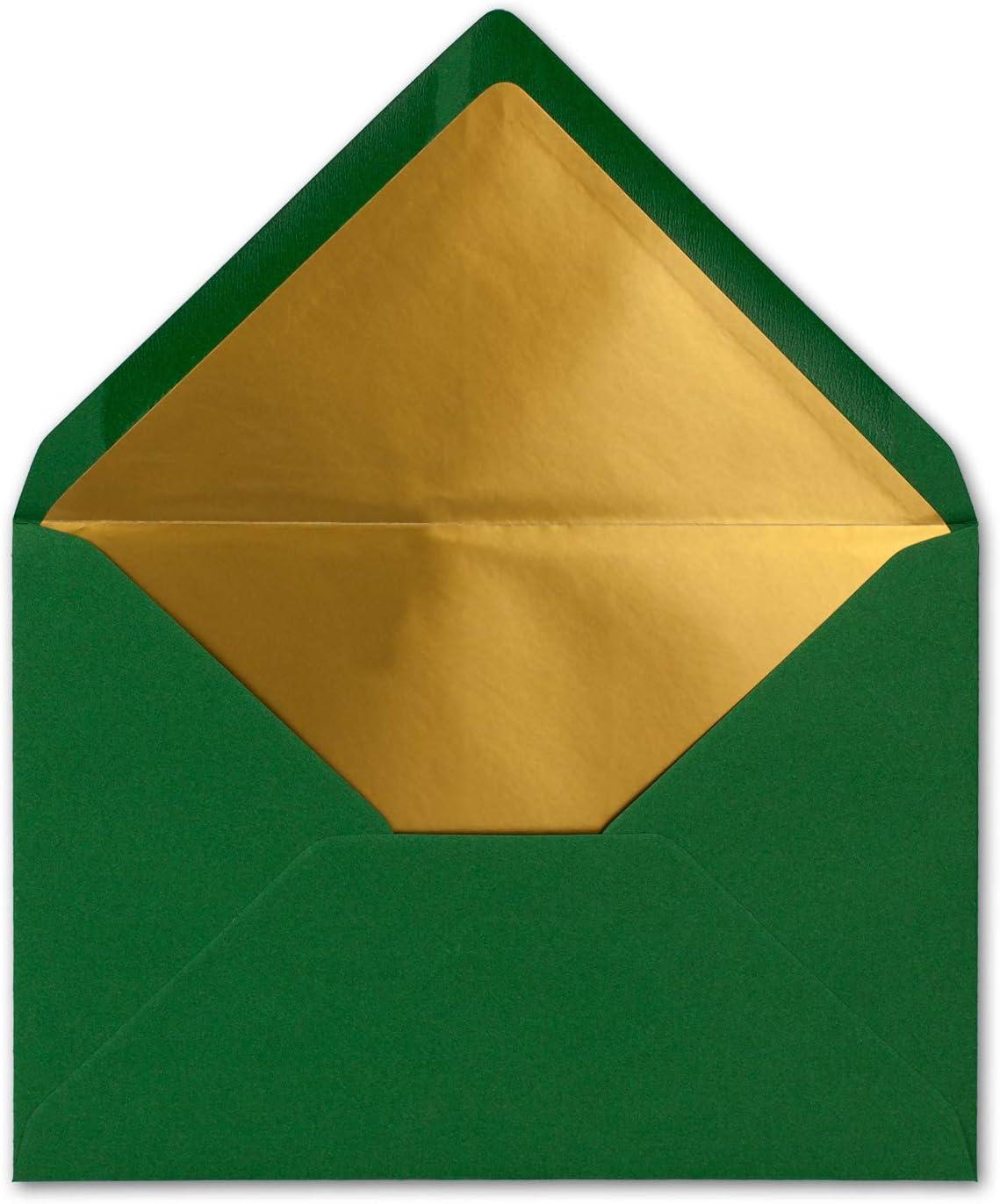 /à collage humide FarbenFroh by GUSTAV NEUSER/® Lot de 10 enveloppes B6 avec doublure dor/ée 12,5 x 17,6 cm Bleu nuit bleu