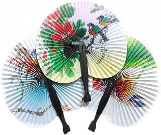 2xNamgiy ventiladores de papel chino, abanicos plegables de bambú para decoración de bodas, bodas, fiestas y el hogar, M