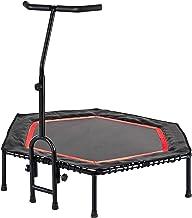FA Sports FlyJump Fit Indoor Fitness Trampoline voor volwassenen, uniseks, zwart, rood, Ø 126 x 114 cm