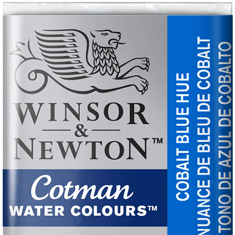 Winsor & Newton Cotman Watercolour Paint Half Pan - Cobalt Blue Hue 179